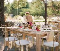 Rustic and romantic vineyard wedding tablescape