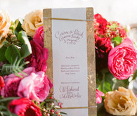 Rustic and romantic vineyard wedding bar menu