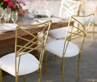 Gold reception chairs