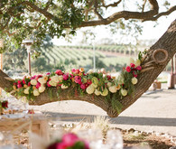 Rustic and romantic vineyard wedding