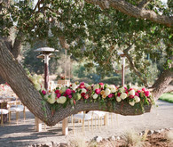 Rustic and romantic vineyard wedding florals