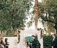 Modern Palm Springs wedding ceremony
