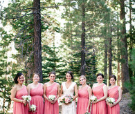 Outdoor bridal party