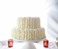 White ruffled cake