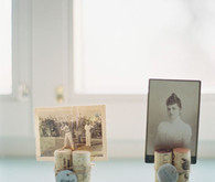 Vintage photo escort cards