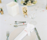 Whimsical white place setting