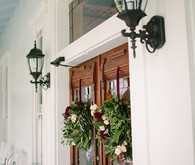 Reception wooden doors