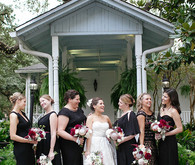 Bridal party in black dresses