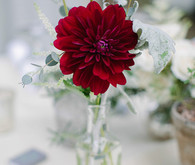 Dark red flower decor