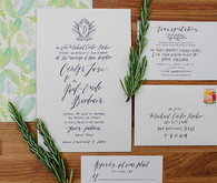 Garden themed wedding invitation