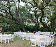 Garden themed wedding reception