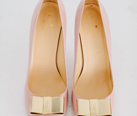Kate space pink and gold heels