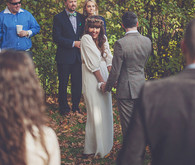 Fall wedding ceremony
