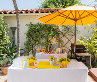 Yellow Backyard Baby Shower