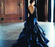 Dark Blue wedding dress by Sareh Nouri