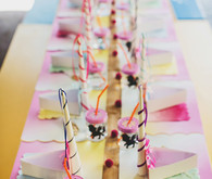 Unicorn birthday party tablescape