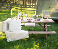 Outdoor brunch picnic