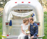 Outdoor elopement with Airstream