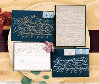 Calligraphy invitation suite