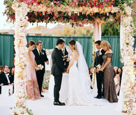 Floral wedding ceremony
