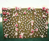 Floral escort card display