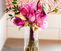 Bright pink centerpiece