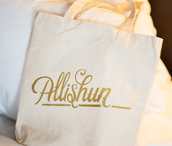 Wedding gold tote
