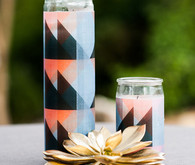 Modern geometric DIY candles