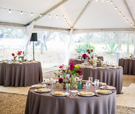 Modern geometric wedding reception
