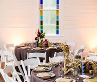 Modern geometric tablescape