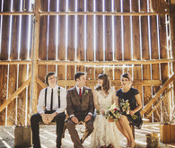 Barn wedding party