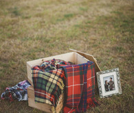 Farm wedding flannel blankets