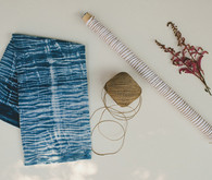 Indigo dyed bridal shower tools