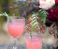 Dinner party pink cocktails
