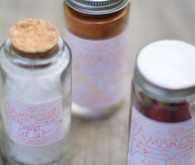 Sea salt dinner party favors