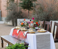 Spanish wedding inspired tablescape