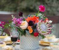 Spanish wedding inspired colorful centerpiece