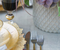 Spanish wedding inspired gold and silver flatware