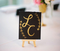 Gold wedding signage
