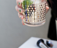 Gold polka dot mojito glassware