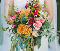 Pink and orange colorful bouquet