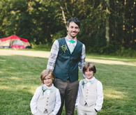 Groom with ring bearers