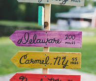 Colorful camp themed signage