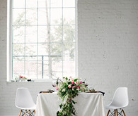 Organic spring wedding tablescape
