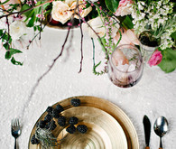 Gold charger place setting