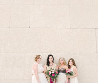 Gold and white bridesmaid dresses