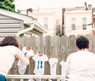 Blue Philadelphia Baby Shower by Confetti and Co