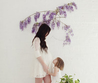 Floral studio maternity photos by Tracy Layne