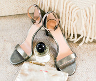 Tory Burch silver wedding shoes