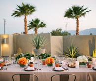 Palm Springs wedding reception tablescape